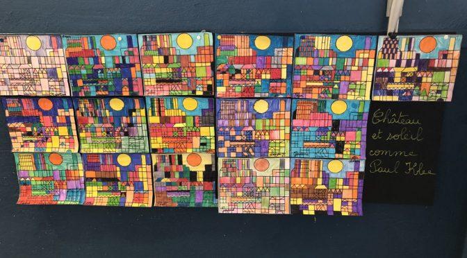 Château et soleil comme Paul Klee