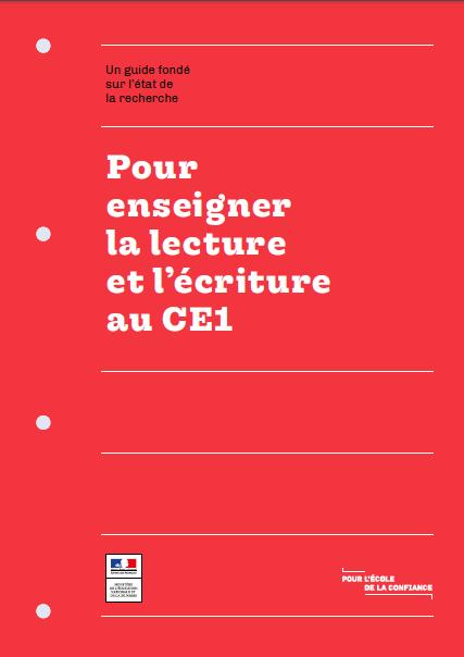 Calendrier Ecriture Ce1.Guide Pour Enseigner La Lecture Et L Ecriture Au Ce1